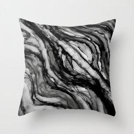 black and white splendor Throw Pillow
