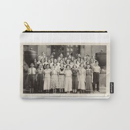 Vintage School Group Photo Carry-All Pouch
