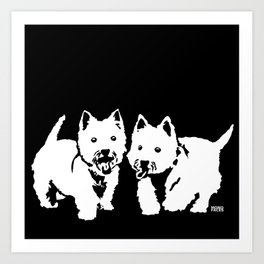 """West Highland Terrier """"The Westie"""" Man's Best Friend Art Print"""