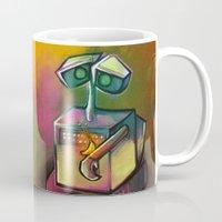 wall e Mugs featuring WALL-E by tidlin