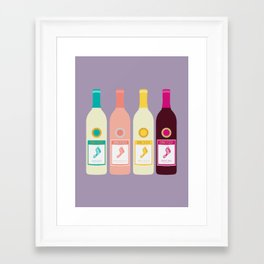 Barefoot Wine Framed Art Print