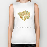 london map Biker Tanks featuring London by Nicksman