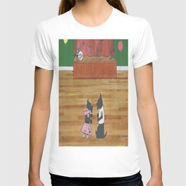 At the Hop-Scotch - Scotties - Scottish Terriers T-shirt