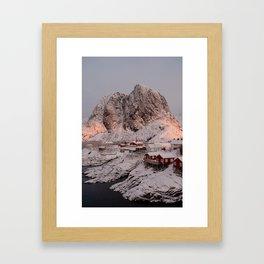 Hamnøy Winter Sunrise Framed Art Print