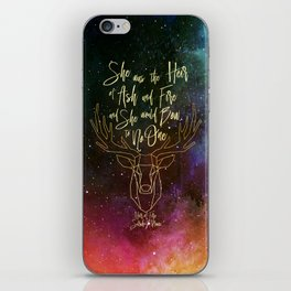 She was the heir of ash and fire and she would bow to no one. Aelin iPhone Skin