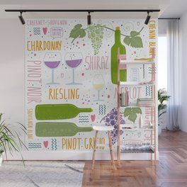 Wine festival. Things about wine Wall Mural