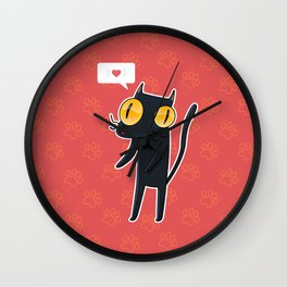 little love cat Wall Clock