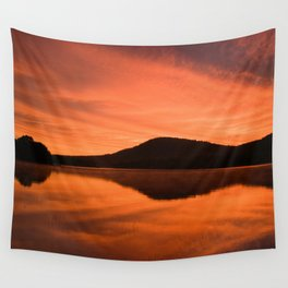 Dawn on Fire: Lac du Saint Sacrement Wall Tapestry