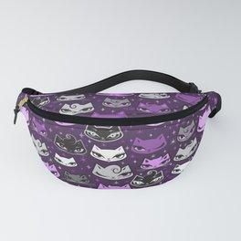 Purple Rockabilly Cats Fanny Pack