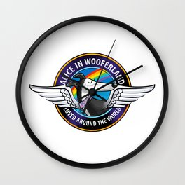 The Alice in Wooferland Fundraiser collection Wall Clock
