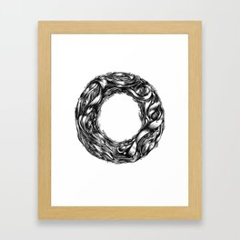 The Illustrated O  Framed Art Print
