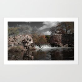 Mission Gorge Dam Art Print
