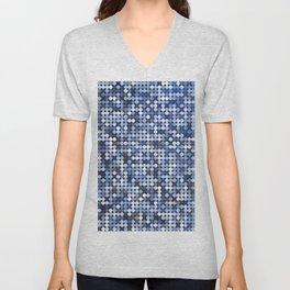 Blue Sequins Unisex V-Neck