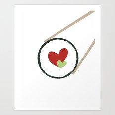 Sushi love Art Print