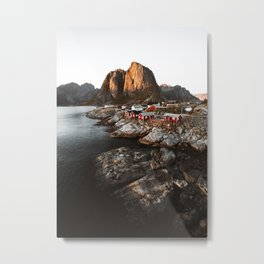 Fisherman Village, Lofoten Islands, Norway Metal Print