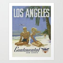 Vintage poster - Los Angeles Art Print