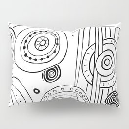 Intergalactic - Black on White Pillow Sham
