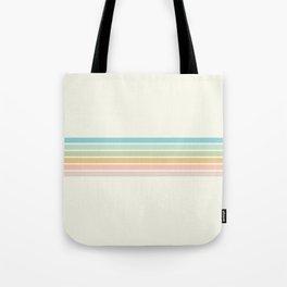 Pastel Retro Lines Tote Bag