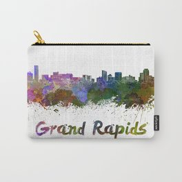 Grand Rapids skyline in watercolor Carry-All Pouch