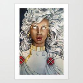 White Haired Hero Art Print