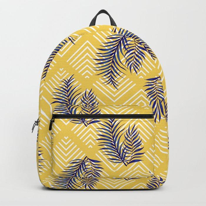 Geometries & Blue Palms #society6 #decor #buyart Backpack