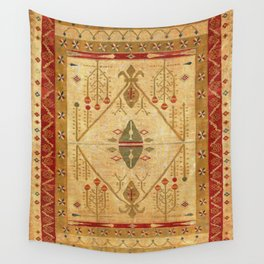 Bikaner Dhurrie Northwest Indian Cotton Kilim Print Wall Tapestry