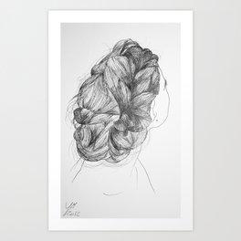 Hair two Art Print