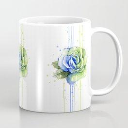 Flower Rose Watercolor Painting 12th Man Art Coffee Mug