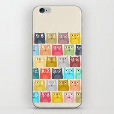 summer cats iPhone & iPod Skin