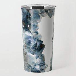 Crystal Photography   Sapphire   Gem   Stone   Geometry Travel Mug