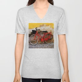 The Red Bicycle Unisex V-Neck