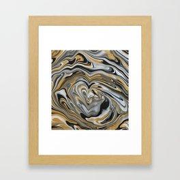Melting Metals Framed Art Print