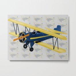Bi-Plane - Fleet Model Metal Print