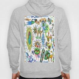 watercolor doodle Hoody