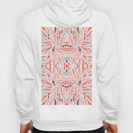 Boho Tile Abstraction / Coral and Blue Hoody