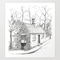 COTTAGE DURHAM Art Print