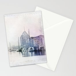 Northern Harbor Greifswald Baltic Coast Germany Stationery Cards