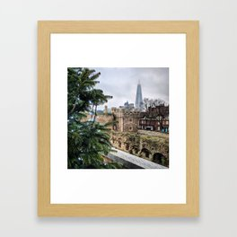 View of the Shard from the Tower of London Framed Art Print
