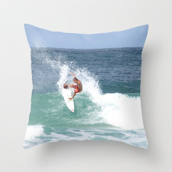 Surf! Throw Pillow