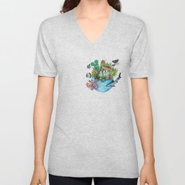 a planet in a drop Unisex V-Neck