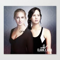 divergent Canvas Prints featuring The Divergent Games by Clara J Aira