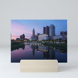 Columbus, Ohio Skyline at Dusk Mini Art Print