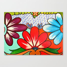 Talavera Tile Canvas Print