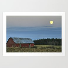 Vermont Full Moon Art Print