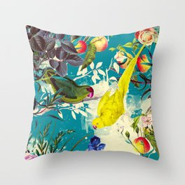 Tropical birds in the nature - 010 Throw Pillow