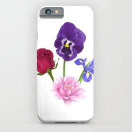 Roses/Lotus/Violet/Iris iPhone Case