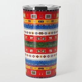 N35 - Bohemain Colored Moroccan Traditional Andalusian Artwork. Travel Mug