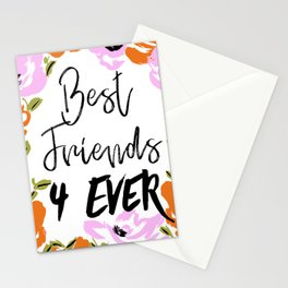 Best friends 4ever Stationery Cards