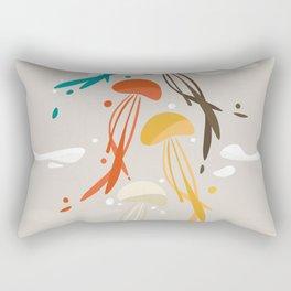 Jellyfish ascend the sky Rectangular Pillow