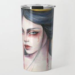 Amaya - Japanese inspired portrait painting Travel Mug